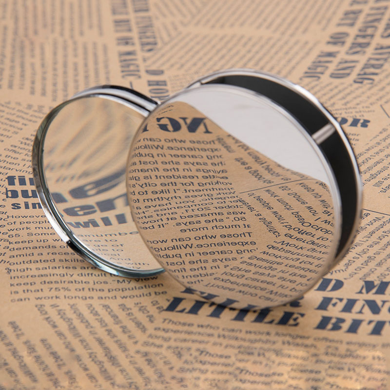 5X 60mm Round Metal Foldable Magnifier Pocket Magnifying Glass for Reading
