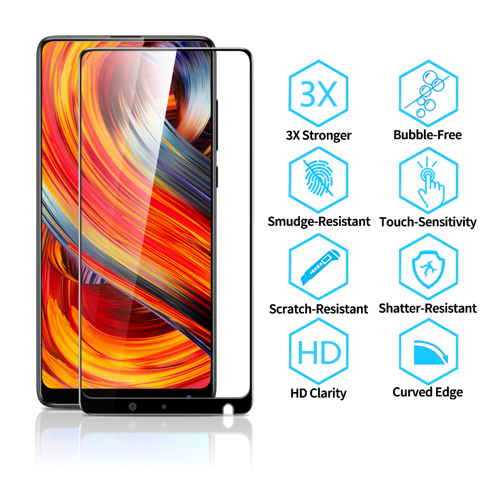 Image 3 - ESR Xiaomi MIX 2 2S Screen Protector for Xiaomi 8 8 SE Tempered Glass 3X Stronger 9H 3D Full Coverage Xiaomi MI 6 Protector Film-in Phone Screen Protectors from Cellphones & Telecommunications on