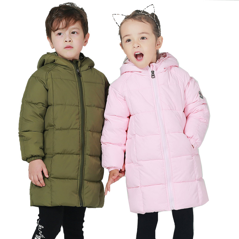 2017 Fashion Children's Down Jackets Coats  Baby boys and Girls Solid Warm Winter Coat Jacket kids Outerwear 1-5years children winter coats jacket baby boys warm outerwear thickening outdoors kids snow proof coat parkas cotton padded clothes