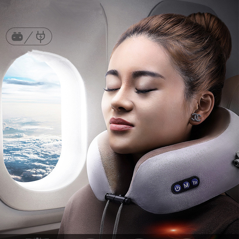 Multi-function Electric U Shape Kneading Neck Massager Vibrating Neck Massage Pillow Cervical Treatment Magnet Therapy PulseMulti-function Electric U Shape Kneading Neck Massager Vibrating Neck Massage Pillow Cervical Treatment Magnet Therapy Pulse