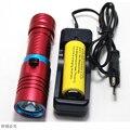 SZ43 3800 люмен XML L2 LED Дайвинг Фонарик Водонепроницаемый Подводный LED Вспышка Света Использовать 18650 ИЛИ 26650 Батареи Зарядное Устройство