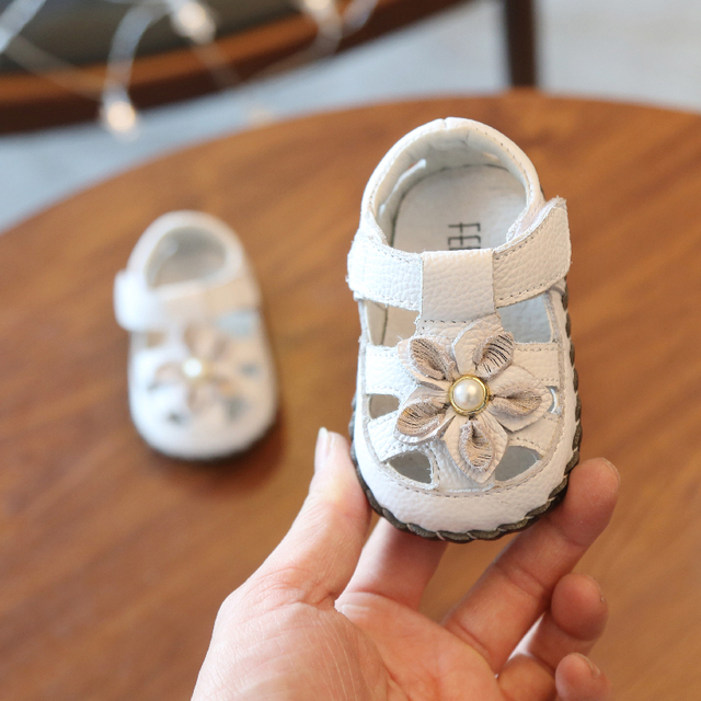 20d932e97 2019 New Summer Infant Girls Sandals for 0-6-12 Months Newborn Baby Shoes  Toddler Girl Shoes Boys Girls Genuine Leather Shoes