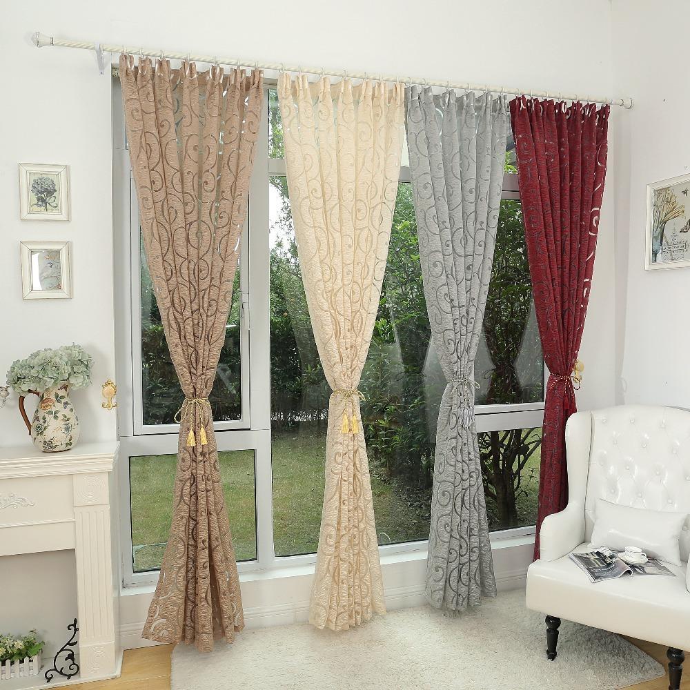 Comprar jacquard estilo de moda para for Modelos de cortinas para living