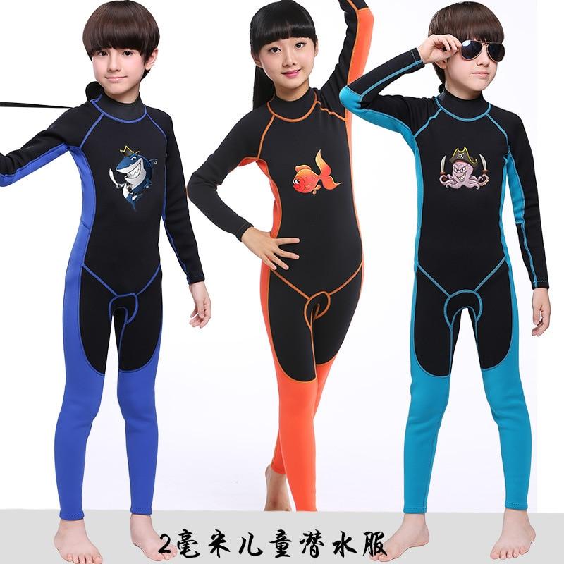 2mm combinaison de plongée pour enfants combinaison de plongée en néoprène vêtements de surf combinaison de natation d'hiver et combinaison de natation d'hiver enfant