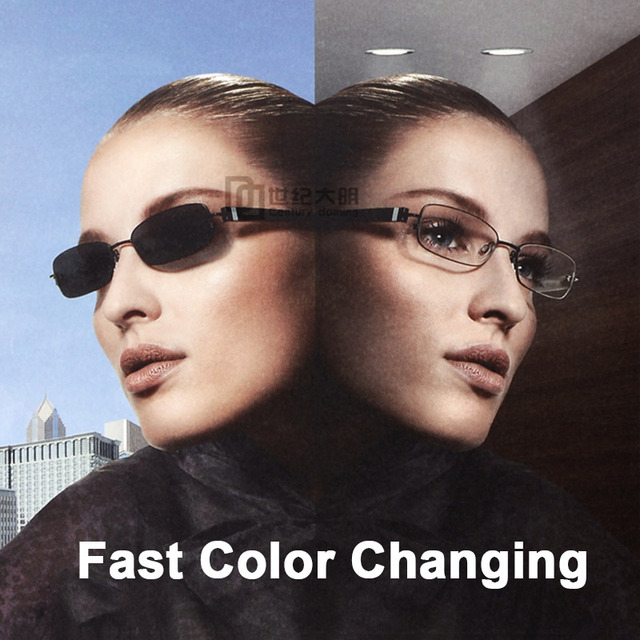 1.56 Photochromic Free form Progressive Aspheric Optical Prescription Lenses Fast and Deep Color Coating Change Performance