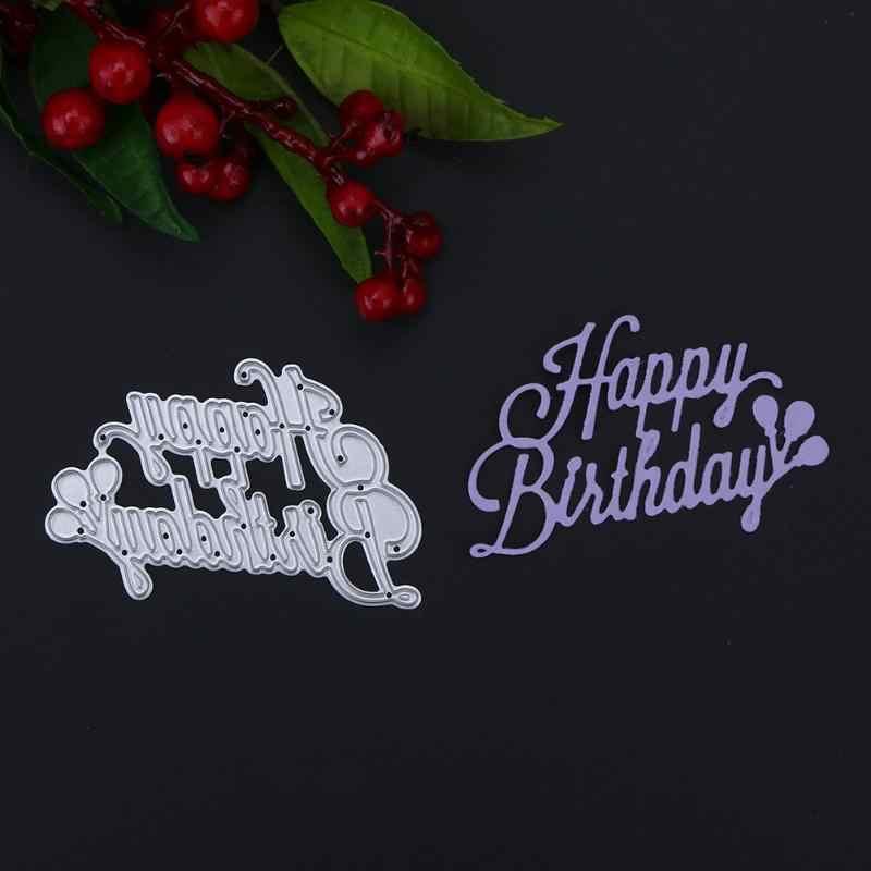 سكرابوكينغ عيد ميلاد سعيد الكربون الصلب DIY بها بنفسك قطع يموت Stencil Album الزخرفية النقش مجلد بطاقة الحرفية المألوف