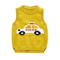 New Style Kids Boys Pullover Knitted Vest Coat Fashion Baby Boys Crochet Waistcoat Sleeveless Children Sweaters Vest BC189