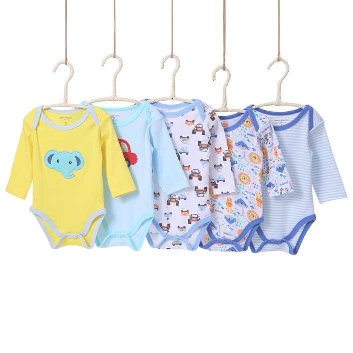 0-24 m Lindo Encantador 5 Unidades / Paquetes Baby boy Body Infantil - Ropa de bebé - foto 4