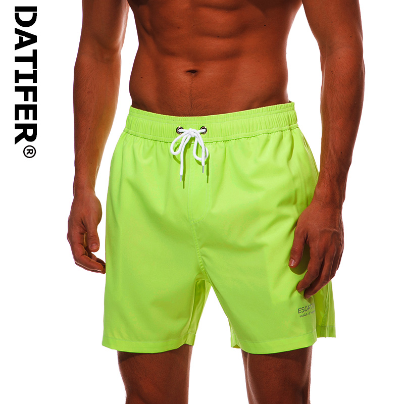 Four Way Stretch Fabric Summer board shorts mens swimming trunks surf swimwear beach short swimsuit running shorts men jog Short