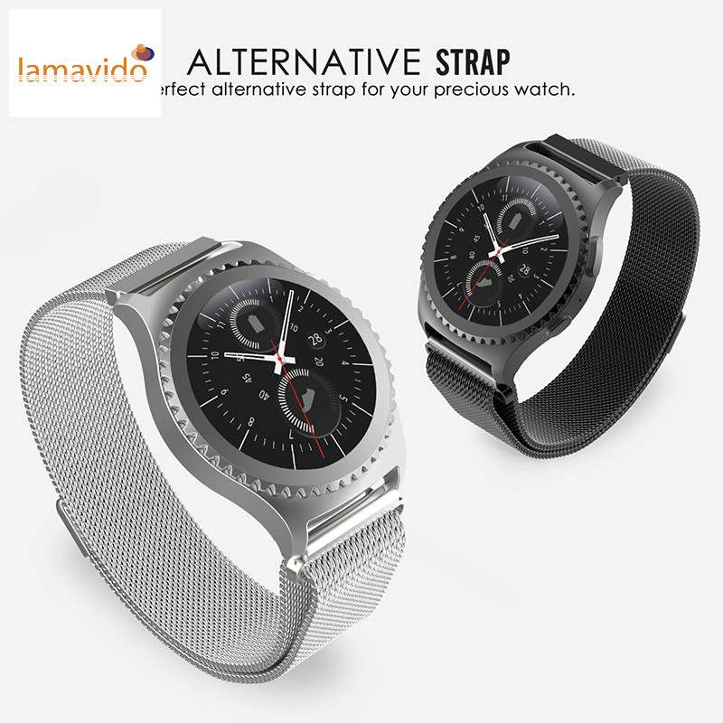 Gear S2 Classic Strap Stainless Steel Metal S2 Bracelet & Magnetic clasp strap Milanese Loop Watch Band for Samsung Gear S2 Band for samsung gear s2 classic black white ceramic bracelet quality watchband 20mm butterfly clasp