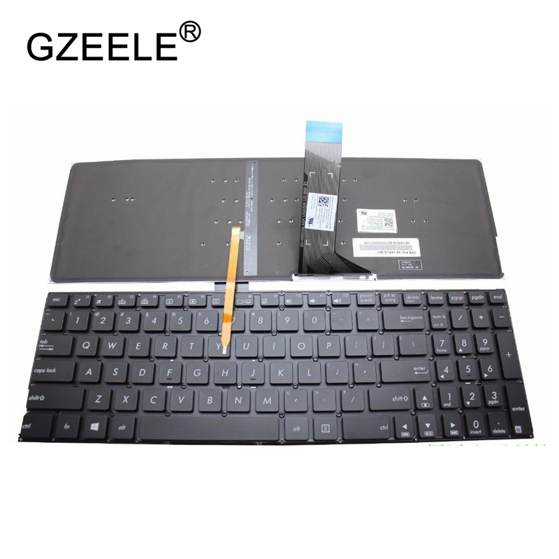 GZEELE new US Keyboard for ASUS K501 K501U K501UB K501UQ K501UW K501UX K501L K501LB K501LX A501L A501LB laptop With backlit asus k501uq grey metal k501uq dm036t