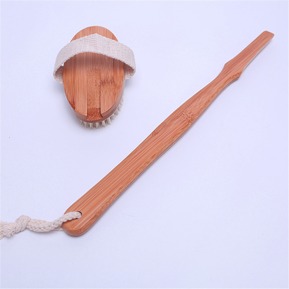 Wooden Bath Shower Body Back Brush Detachable Japanese Style SPA ...