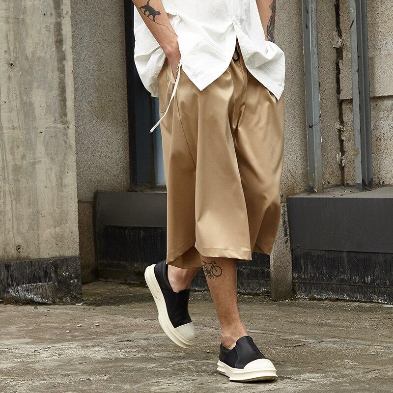 Men Streetwear Fashion Casual Wide Leg Pant Japan Style Summer Kimono Pant Male Hip Hop Skirt Trousers