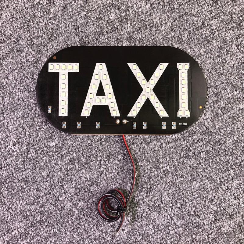 New 1PC Universal 45SMD 12V LED TAXI Sign Light Lamp Indicator Lighting Car Windscreen Cab Night Driving For Toyota Honda VW