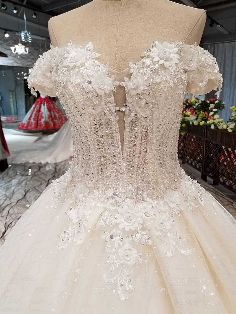 LS36477-1 свадебное платьес открытыми плечами Милая Простой нарядное платье AliExpress Оптовая красоты люкс торжественное платье сделано в Китае со шлейфом