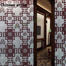 Chinese style Frosted Window sticker selfadhesive glass film Etched Privacy Stained Home Decorative office window 60*300cm