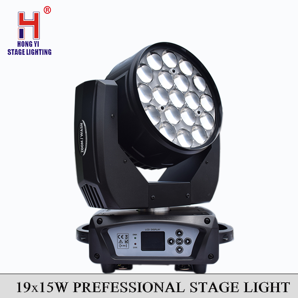 LED Wash Zoom 19x15w RGBW 4IN1 Moving Head Light Electronic Dimming Adjustment Strobe Effect Professional Stage Light EquipmentLED Wash Zoom 19x15w RGBW 4IN1 Moving Head Light Electronic Dimming Adjustment Strobe Effect Professional Stage Light Equipment