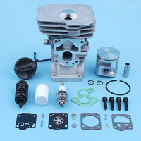 41mm Nikasil Cylinder Piston Carb Repair Kit For Jonsered CS2240 CS2240 S Chainsaw 504735101 Gas Fuel Cap Filter Spare Part