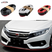 RASTP -Universal 2.5m Car Front Lip Bumper Carbon Fiber Style Modified Strip Sticker Protection Have In Stock RS-LKT006