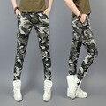 2016 Mulheres Magras calças femininas calças casuais calças de Camuflagem macacão calças