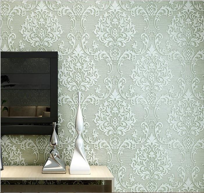 ᗑDe alta clase de estilo europeo wallpaper repujado patrón 3D no ...