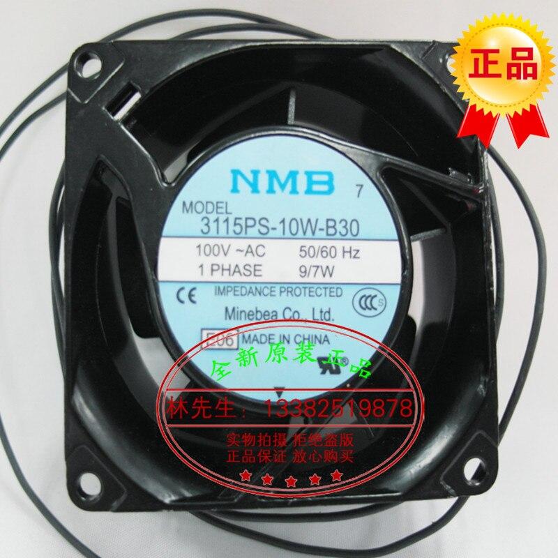 ФОТО New original NMB 3115PS-10W-B30 AC100V 9/7W 80*80*38MM 8cm axial flow cooling fan