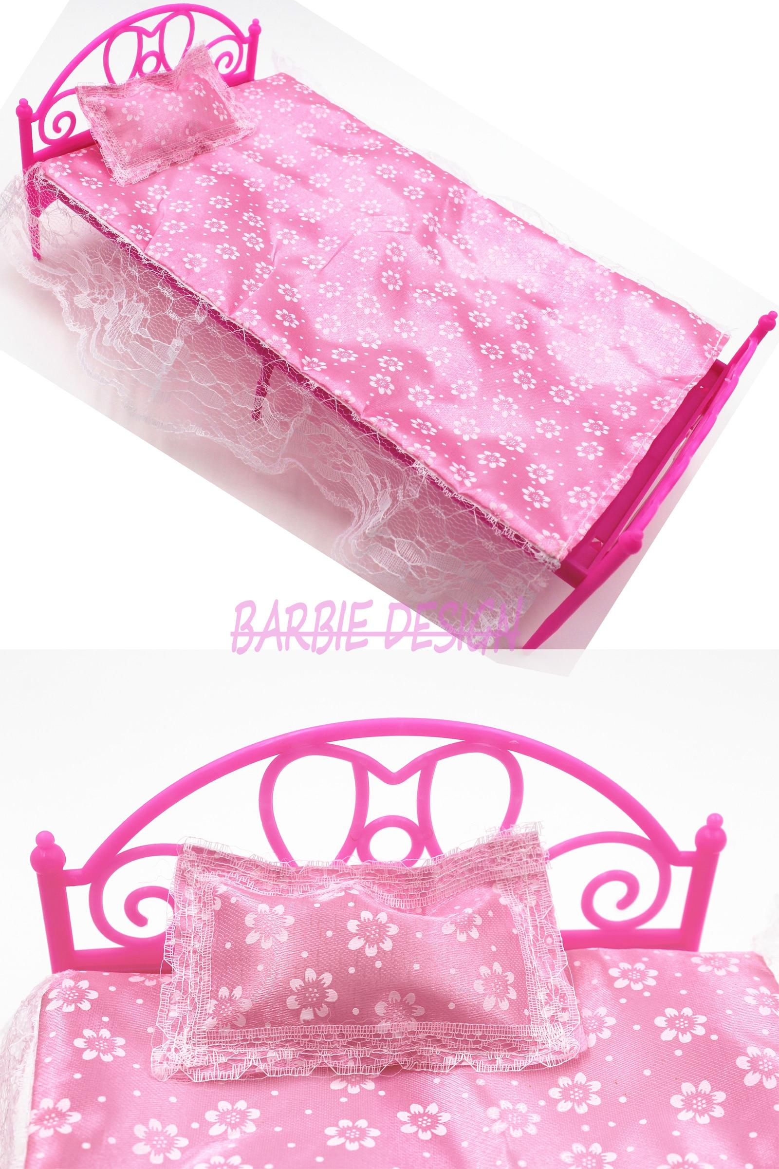 da Boneca Rosa Mini Boneca Cama Móveis Para Casa de Boneca Barbie  #C4077E 1600x2400
