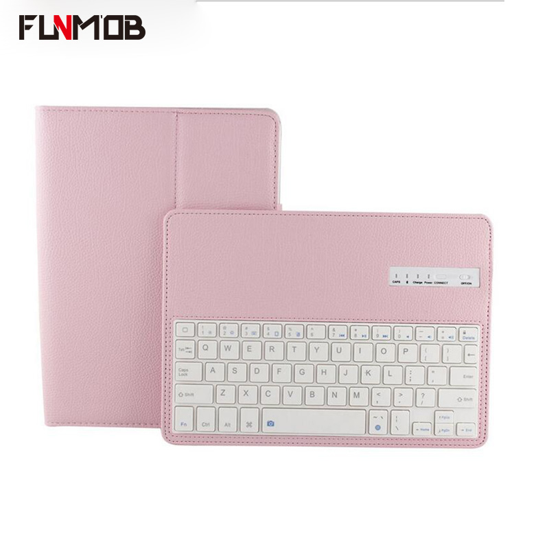 For iPad air1 air2 Cases USB With Wireless Bluetooth Keyboard Smart PU Leather 360 Full Protective Cover For iPad pro 2017/2018