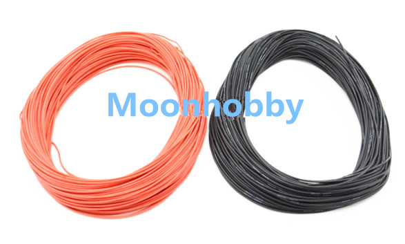 1 METER Red 1 METER Black 10AWG 12AWG 14AWG 16AWG 18AWG Heatproof Soft Silicone Wire Cable
