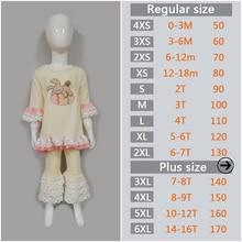 Girl Easter Rabbit Ruffle Shirt Pants Set