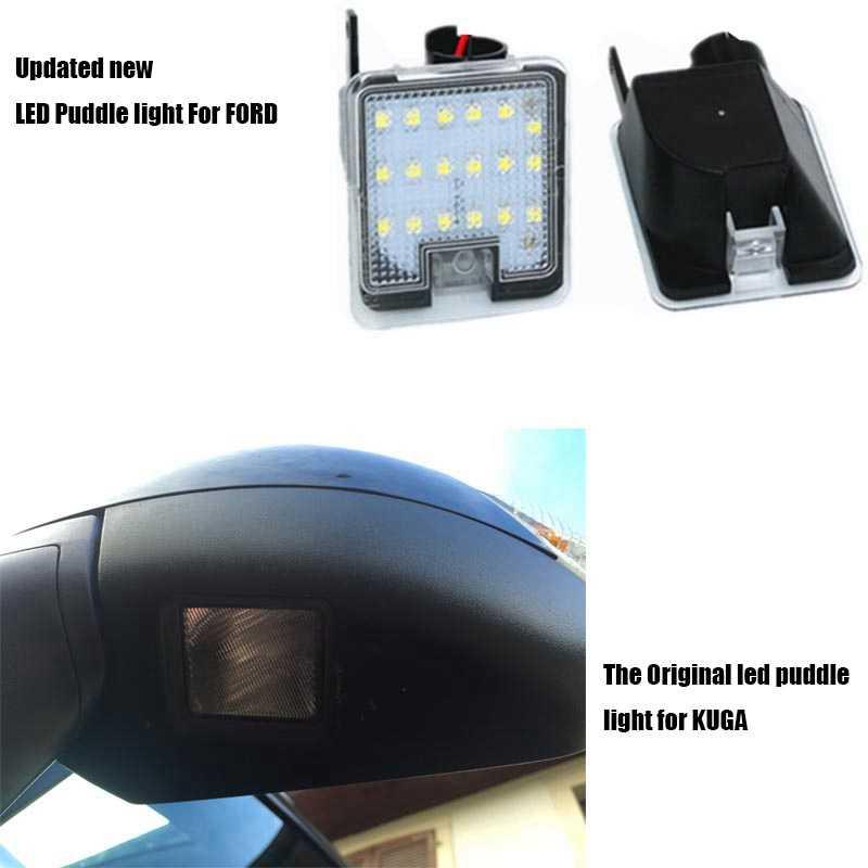 รถLedด้านข้างกระจกด้านหลังกระจกWelcome Light Puddle LightสำหรับFord Kuga Focus