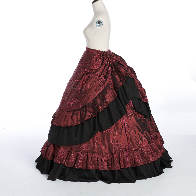 18th Century Marie Antoinette Rococo Damask Cosplay Costume Skirt