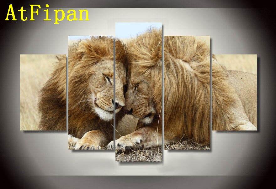 Atfipan стены Книги по искусству Куадрос Декор Животные Лев Современная живопись на