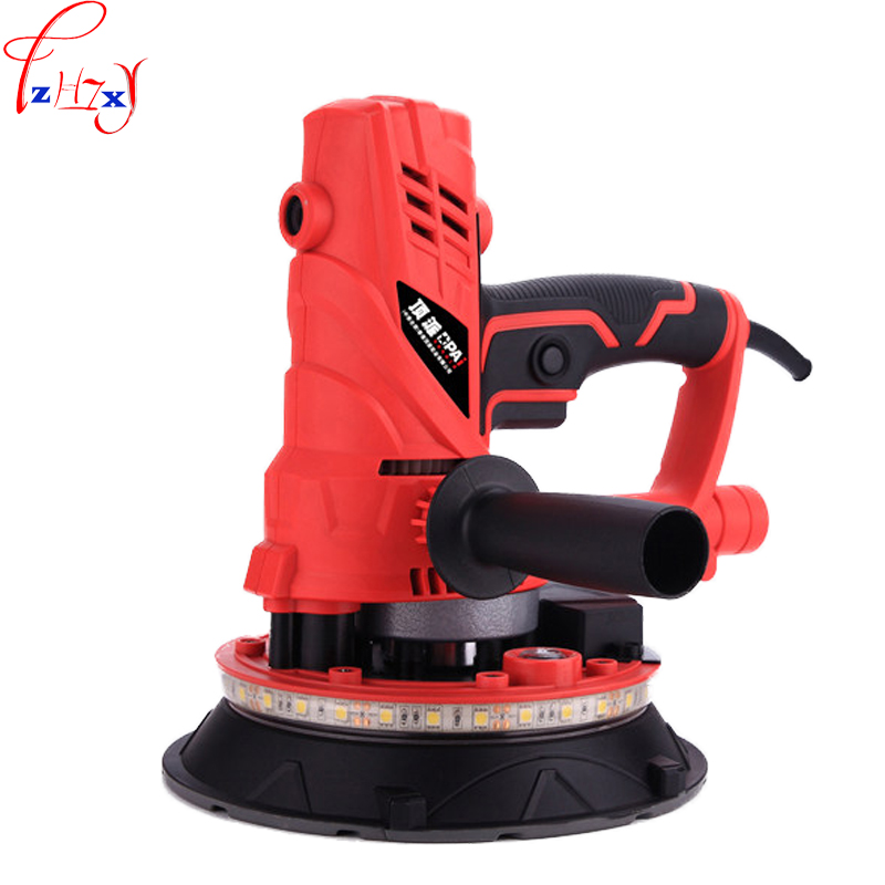 220V 850W 1PC Hand held dustless wall polishing machine putty polishing wall grinding machine with 360 degree LED light band vibration type pneumatic sanding machine rectangle grinding machine sand vibration machine polishing machine 70x100mm