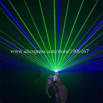 New Design GB Laser Glasses With 2 Pcs Lasers(Green+Blue)  For Halloween Laserman Glasses Stage Laser Show Party Supplies