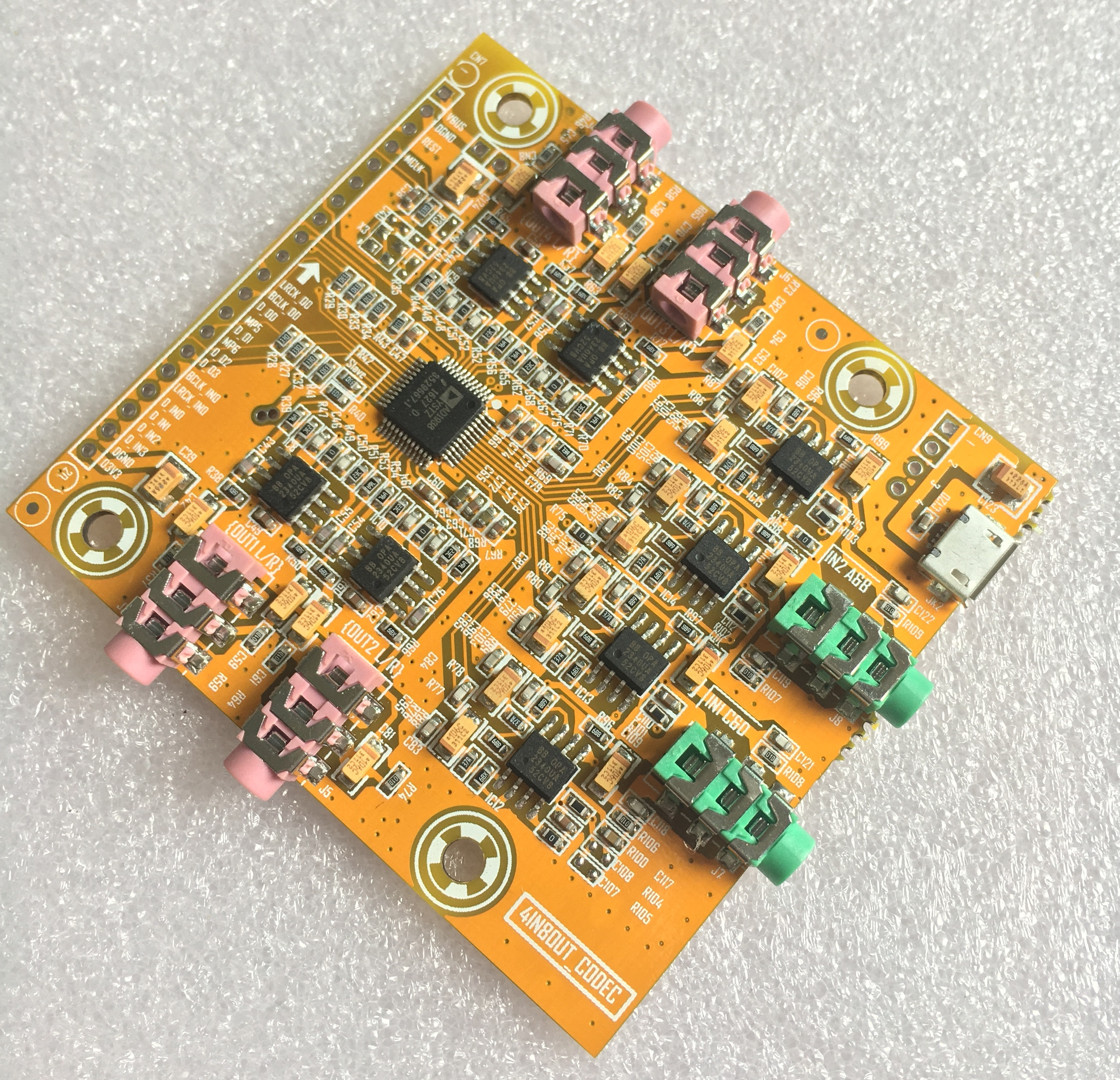 4 in 8 out electronic divider /IIS audio processing /DAC decoder board цена