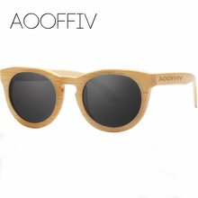 AOOFFIV Wood Sunglasses Women Polarized Lens Sun Glasses Bamboo Frame Eyewear 2017 New Designer Shades UV400 Protection ZA55-2