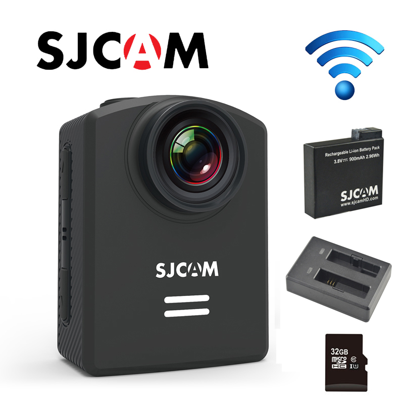 Original SJCAM M20 Wifi Gyro 4K 24fps 2K 30fps NTK96660 Mini Action Sport Camera+Extra 1pcs Battery+Battery Charger +32GB Card стоимость
