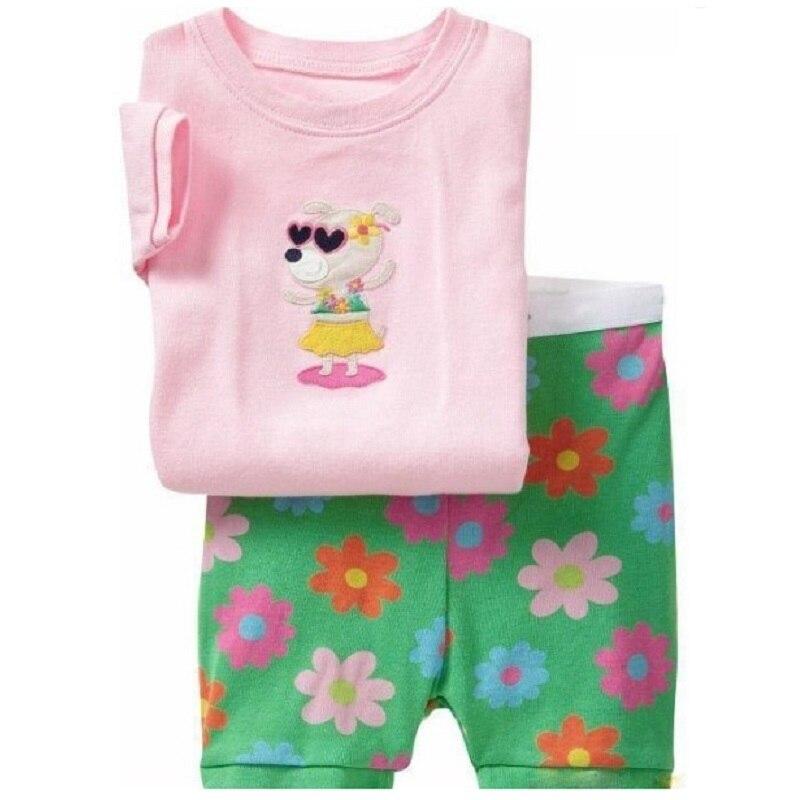 2-12 Year Children Pajamas Sets Polka Dot Baby Girls Sleepwear nightdress Pink Girl pijama loungewear T-Shirt Trouser PJS Cotton 6