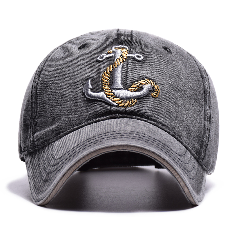 100/% Cotton Baseball Cap Old Pirate Ship Anchor Embroidery Fashion Sports Hat for Men /& Women Cap