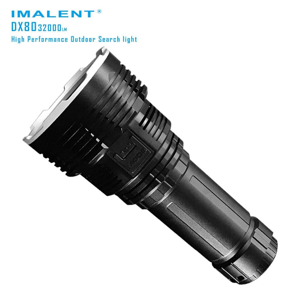 Imalent dx80 CREE xhp70 светодиодный фонарик 32000 люмен 806 м зарядка через USB Интерфейс фонарик