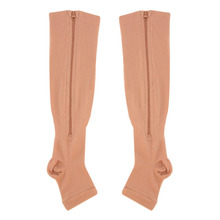 Travel Sports Stockings Miracle Socks Antifatigue Compression Stockings Soothe Achy Unisex Knee Socks Supports Open Toe Zipper