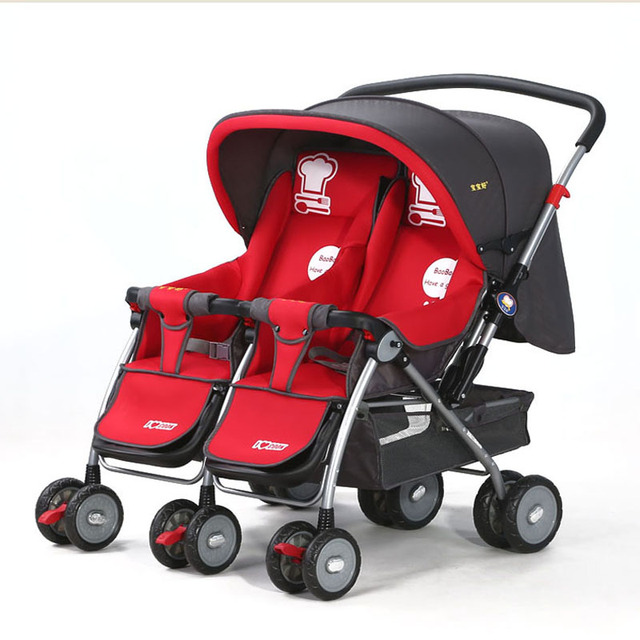 Baobaohao Baby carriage, Twins stroller 703R, double stroller, super suspension portablity twins stroller,freeshipping