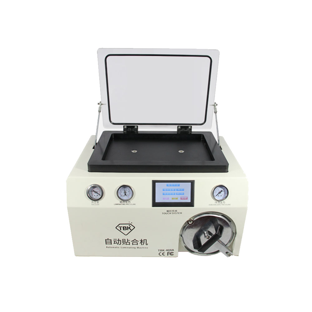 цена на Newest TBK-408A 15 Inch Vacuum Pump OCA Mobile Phone LCD Laminator Machine with Transparent Cover and Autoclave Bubble Remover