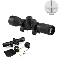 Tactical 4X32 Compact Rangfinder Rifle Scope With Rings