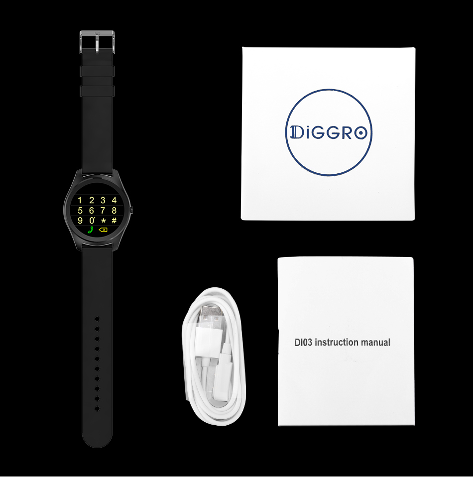 Diggro DI03 Smart Watch MTK2502C IP67 Waterproof Heart Rate Monitor Remote Control Camera Message Push Smartwatch IOS Android 24