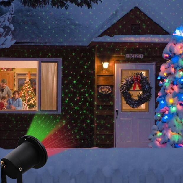 Vioslite Spotlight RGB Christmas Decoration Atmosphere Waterproof Lawn Lamp Dual LED Light Landscape Lawn Yard Path Spot Light icoco 3 led solar powered spotlight outdoor garden ip44 landscape lawn yard path spot light decor auto on light lamp