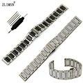 Zlimsn correas de reloj 16mm 20mm bandas pulseras hombres mujeres de acero inoxidable y correa de reloj de cerámica correa relojes hombre s25