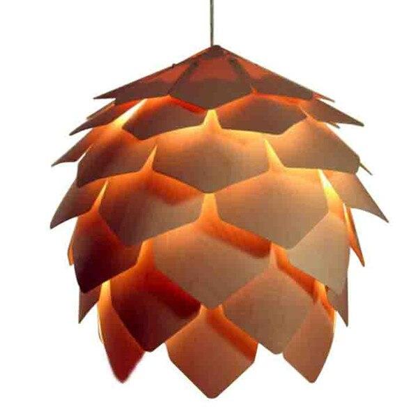 New 2014  Modern Wooden Pendant Lamp led bulb lights E27 indoor lighting With light Diameter 25cm  110v/220V LPL6-25