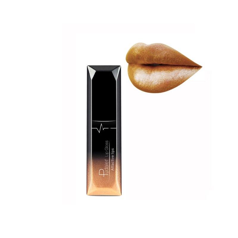 Pudaier 21 Colors Matte & Metalic Matte Liquid Lipstick Lips Make up Nude Lipstick Waterproof Lip Gloss Cosmetics Makeup 4